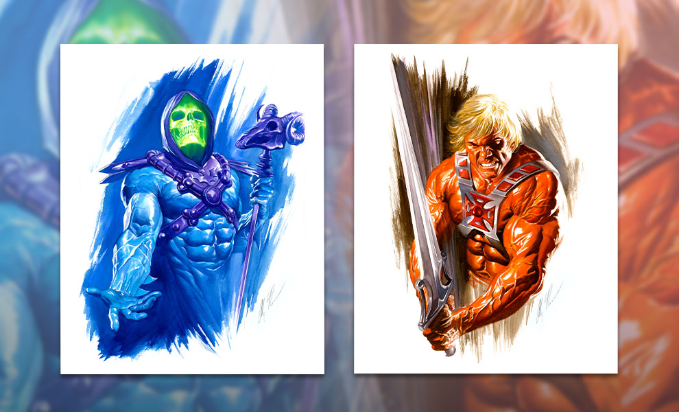 Gallery Feature Image of He-Man and Skeletor Art Print - Click to open image gallery