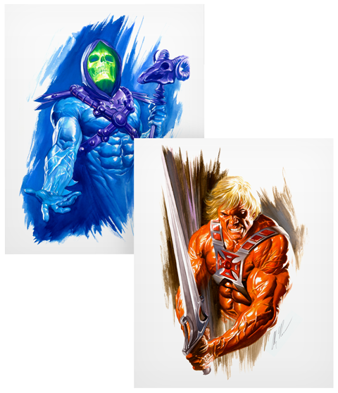 Alex Ross Art He-Man and Skeletor Art Print
