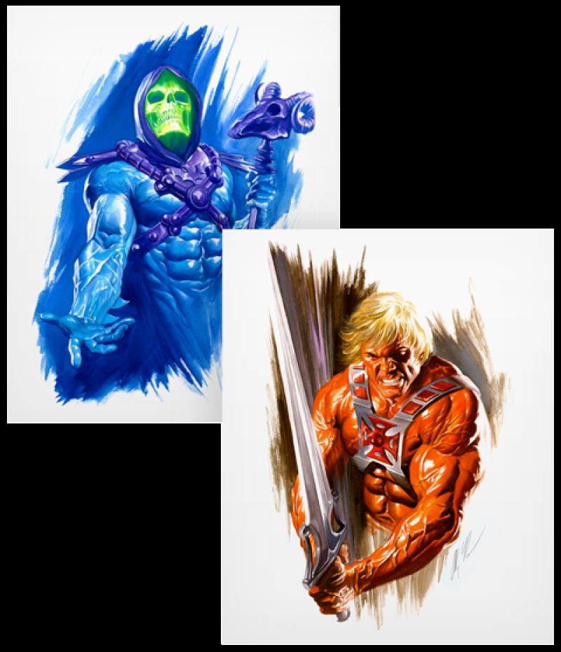 He-Man and Skeletor Art Print - Lithograph Set