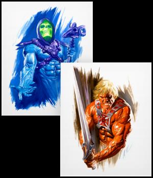 He-Man and Skeletor Art Print