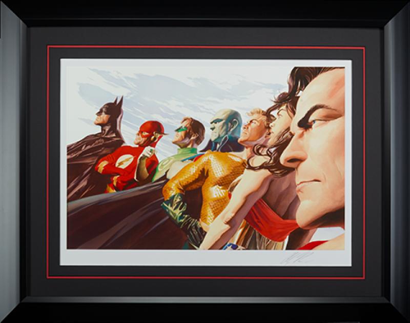 Liberty and Justice JLA Art Print -