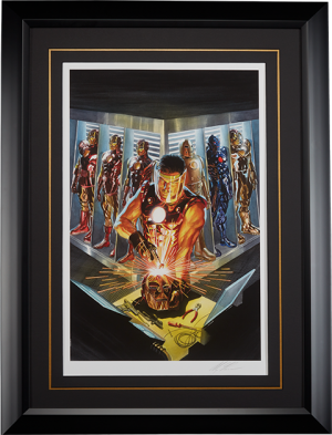 Iron Man The Golden Avenger Art Print