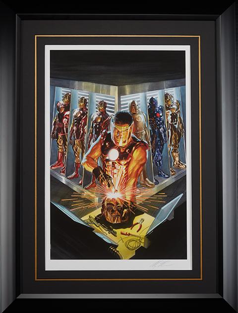 Alex Ross Art Iron Man The Golden Avenger Art Print