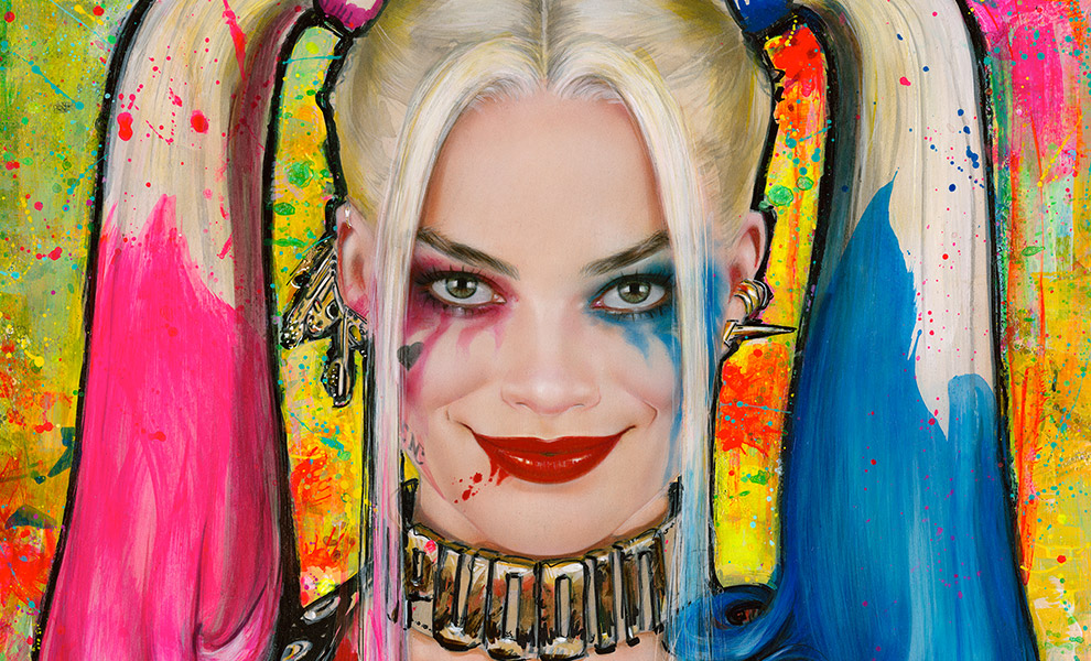 Gallery Feature Image of Harley Quinn Daddys Lil Monster Art Print - Click to open image gallery