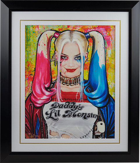 Ozone Productions Harley Quinn Daddys Lil Monster Art Print