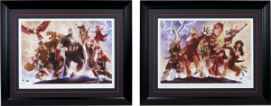 Avengers Team Cap and Iron Man Art Print