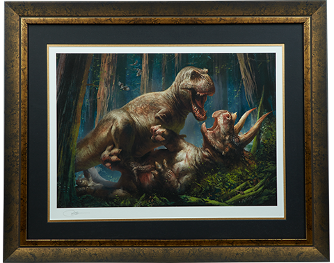 Sideshow Collectibles T-Rex vs Triceratops Art Print