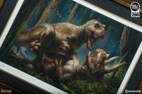 Gallery Image of T-Rex vs Triceratops Art Print