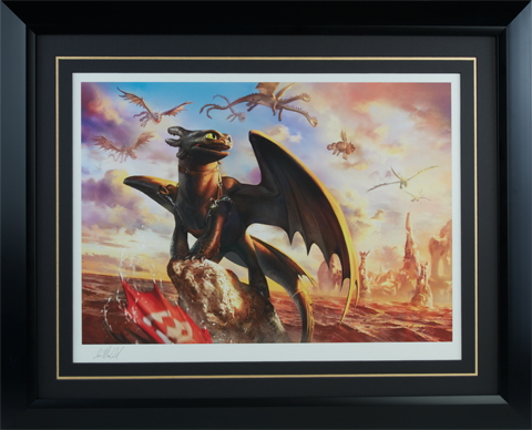 Sideshow Collectibles Toothless and the Dragons of Berk Art Print