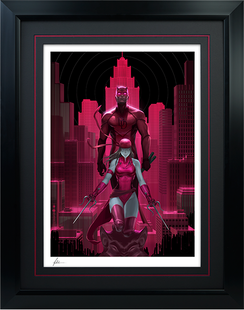 Sideshow Collectibles Daredevil and Elektra Art Print