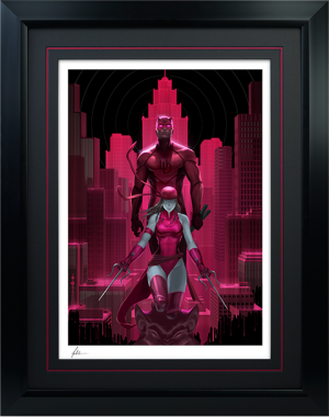 Daredevil and Elektra Art Print
