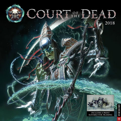 Universe Publishing Court of the Dead 2018 Wall Calendar Miscellaneous Collectibles