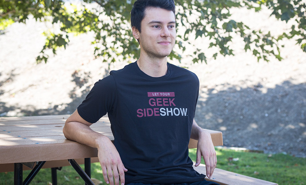 Gallery Feature Image of Let Your Geek Sideshow T-Shirt Apparel - Click to open image gallery