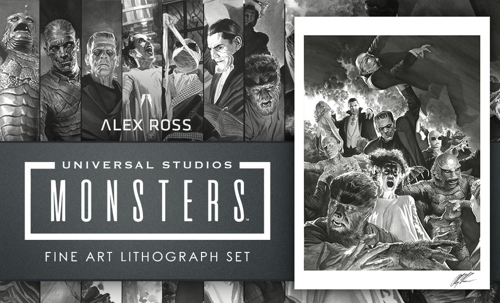 Gallery Feature Image of Universal Monsters Art Print - Click to open image gallery
