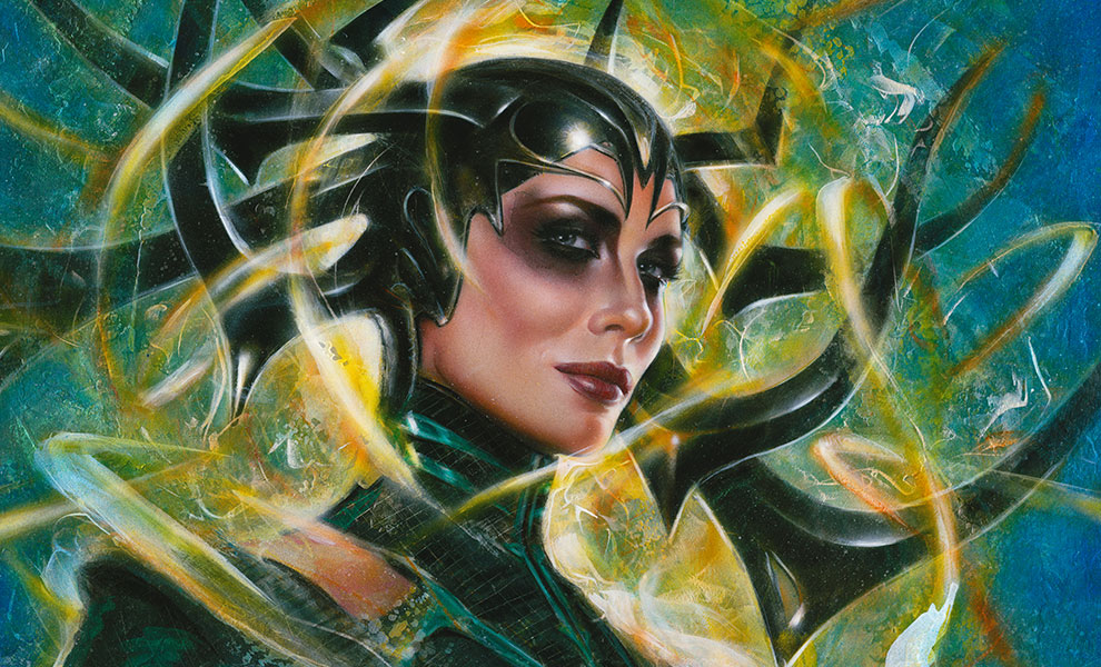 Gallery Feature Image of Hela Goddess of Death Art Print - Click to open image gallery