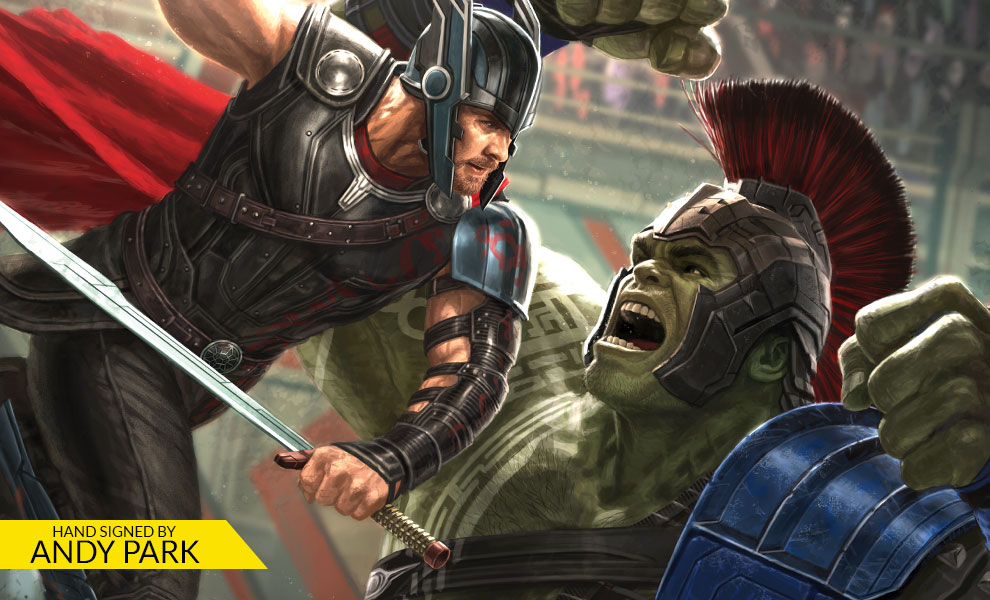 Gallery Feature Image of Thor Ragnarok Art Print - Click to open image gallery