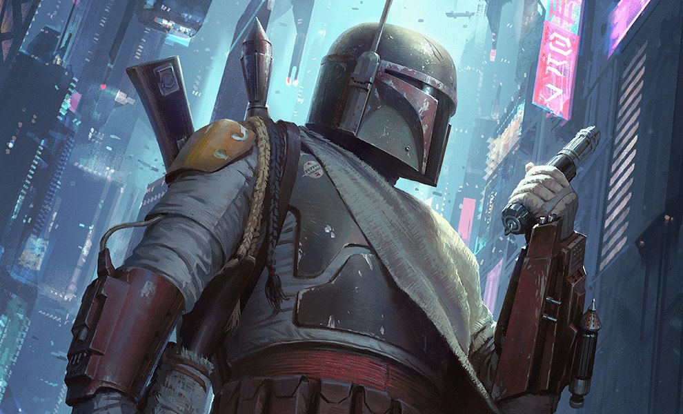 Gallery Feature Image of Boba Fett Force to Be Reckoned With Art Print - Click to open image gallery