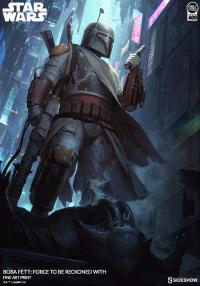 Gallery Image of Boba Fett Force to Be Reckoned With Art Print