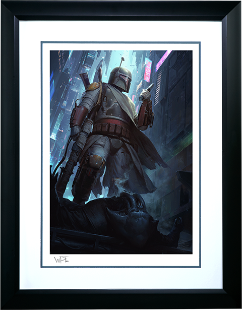 Sideshow Collectibles Boba Fett Force to Be Reckoned With Art Print