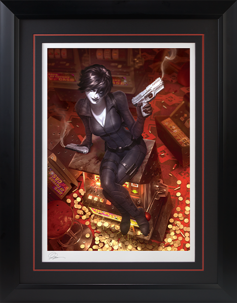Sideshow Collectibles Domino Luck Be a Lady Art Print