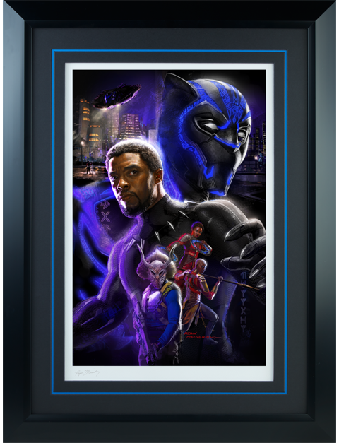 Sideshow Collectibles Black Panther Art Print