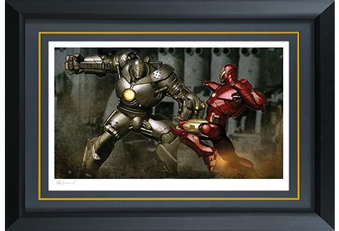 Sideshow Collectibles Iron Man vs Iron Monger Art Print