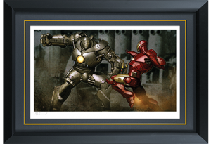 Iron Man vs Iron Monger Art Print