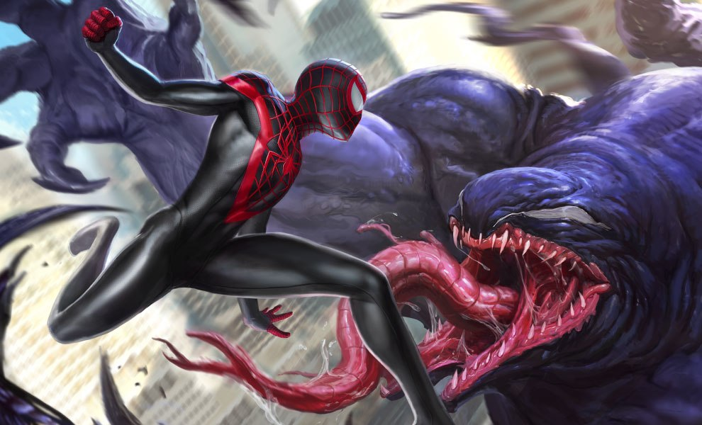 Gallery Feature Image of Spider-Man Miles Morales Art Print - Click to open image gallery