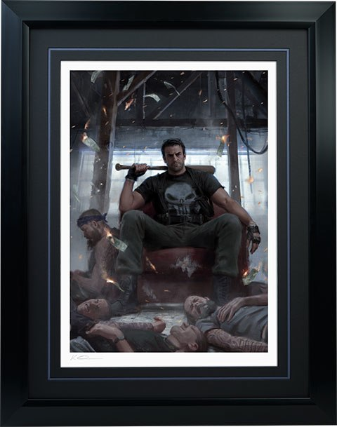 Sideshow Collectibles Punisher on Throne Art Print