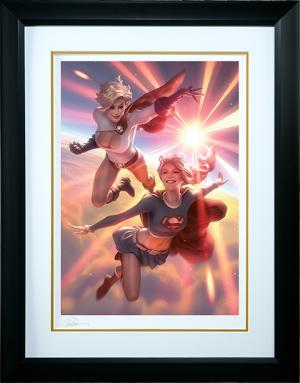 Supergirl and Power Girl Art Print