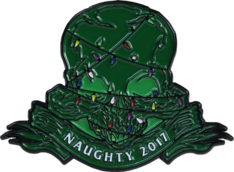 Sideshow Collectibles Court of the Dead 2017 Naughty Holiday Collectible Pin