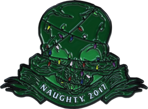 Court of the Dead 2017 Naughty Holiday Collectible Pin