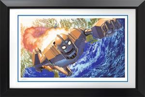 Iron Giant No Atomo I Superman Art Print