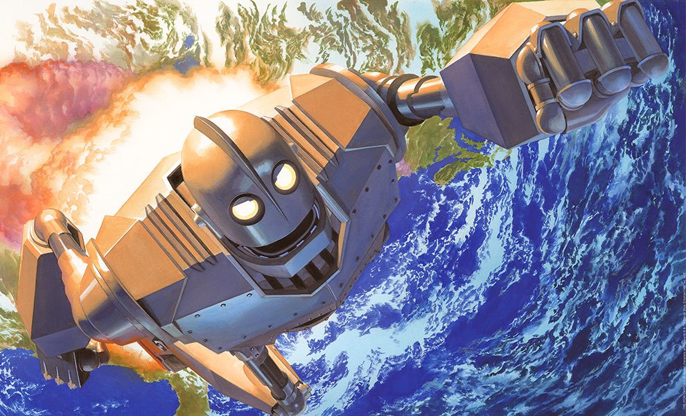Gallery Feature Image of Iron Giant No Atomo I Superman Art Print - Click to open image gallery