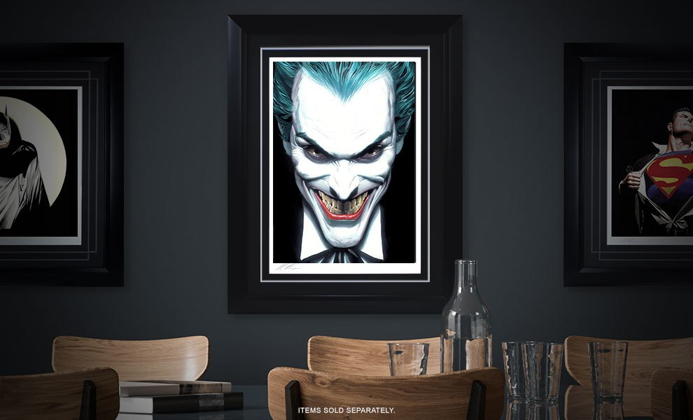 Gallery Feature Image of The Joker Portraits of Villainy Art Print - Click to open image gallery