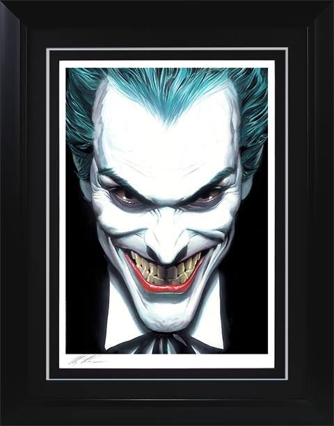 Alex Ross Art The Joker Portraits of Villainy Art Print