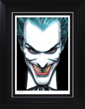 The Joker Portraits of Villainy Art Print