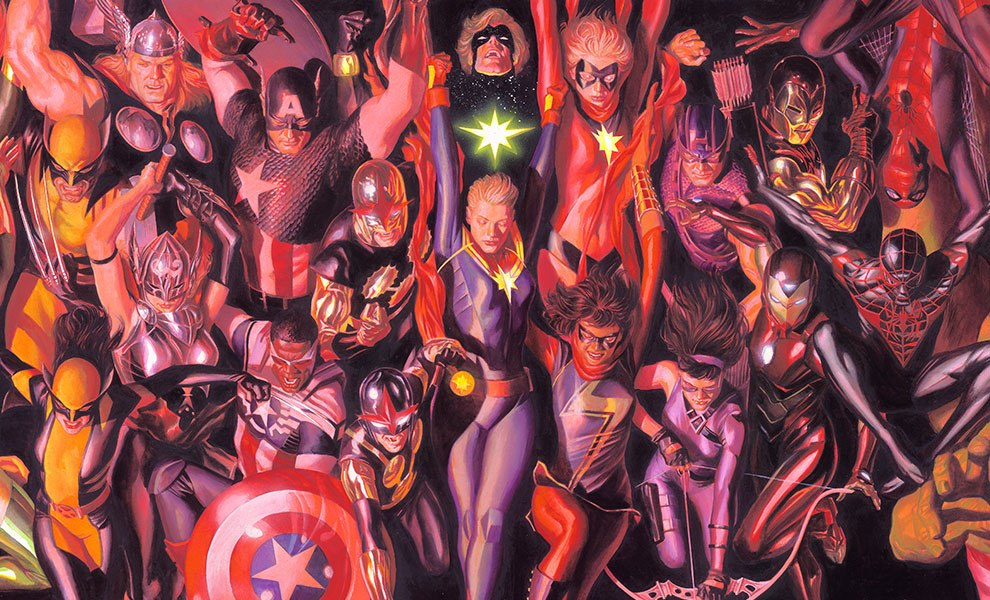 Gallery Feature Image of Marvel Generations Art Print - Click to open image gallery