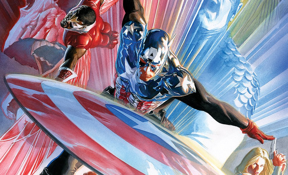 Gallery Feature Image of Captain America 600 Art Print - Click to open image gallery
