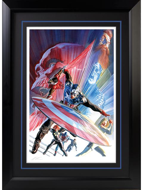 Alex Ross Art Captain America 600 Art Print