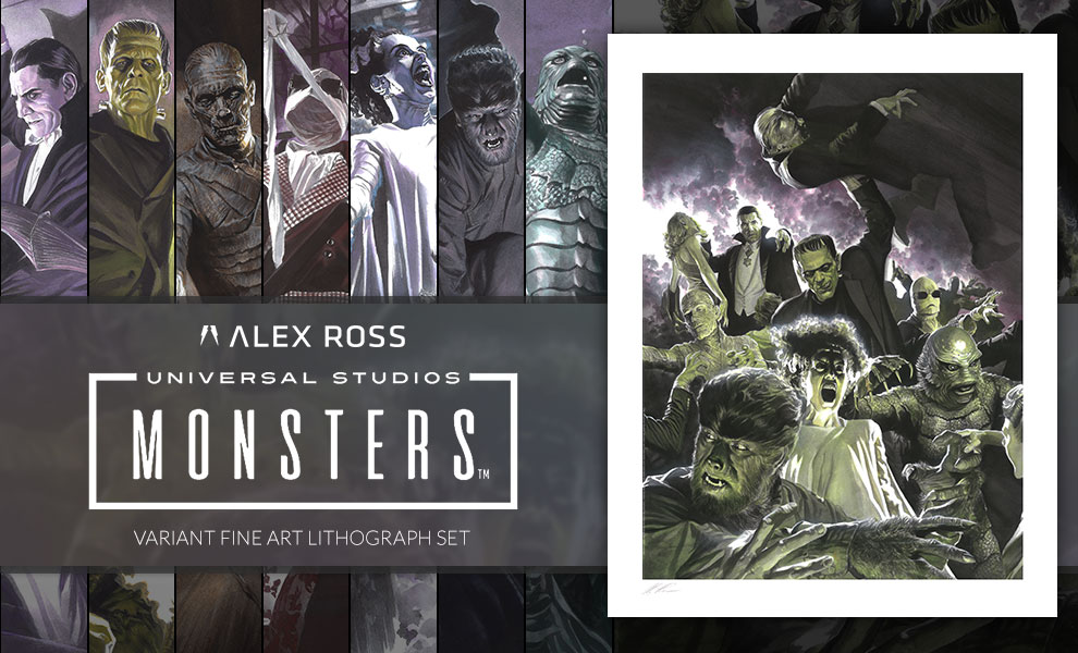 Gallery Feature Image of Universal Monsters Variant Set Art Print - Click to open image gallery