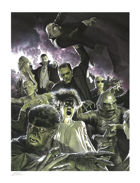 Alex Ross Art Universal Monsters Variant Set Art Print
