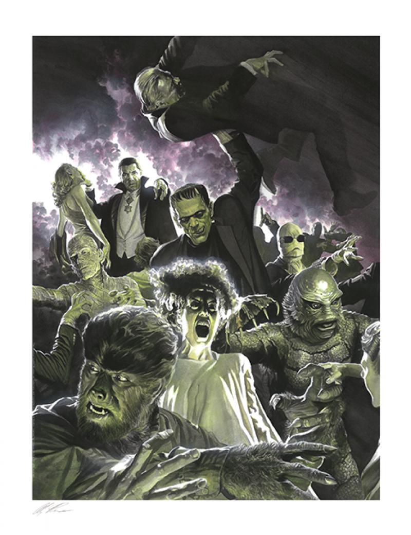 Universal Monsters Variant Set Art Print - Lithograph