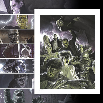 Universal Monsters Variant Set Art Print