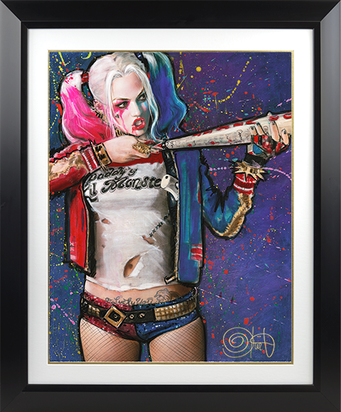 Ozone Productions Harley Quinn Batter Up Art Print