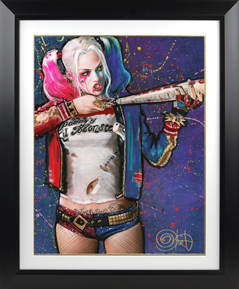 Harley Quinn Batter Up Art Print - Suicide Squad