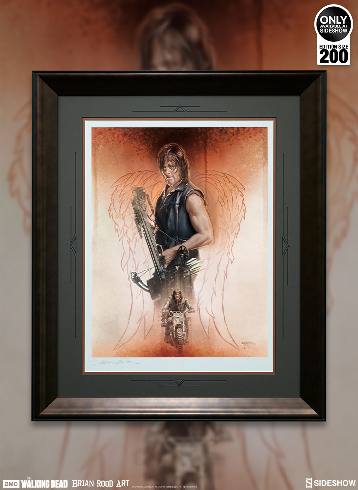 Drifter Walking Dead Unframed Art Print Sideshow