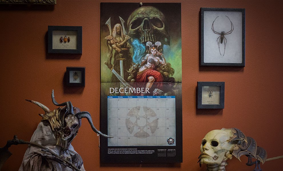 Gallery Feature Image of Court of the Dead 2019 Deluxe Wall Calendar Miscellaneous Collectibles - Click to open image gallery