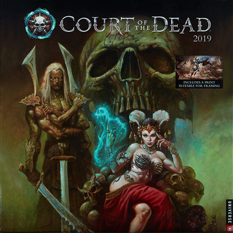 Universe Publishing Court of the Dead 2019 Deluxe Wall Calendar Miscellaneous Collectibles