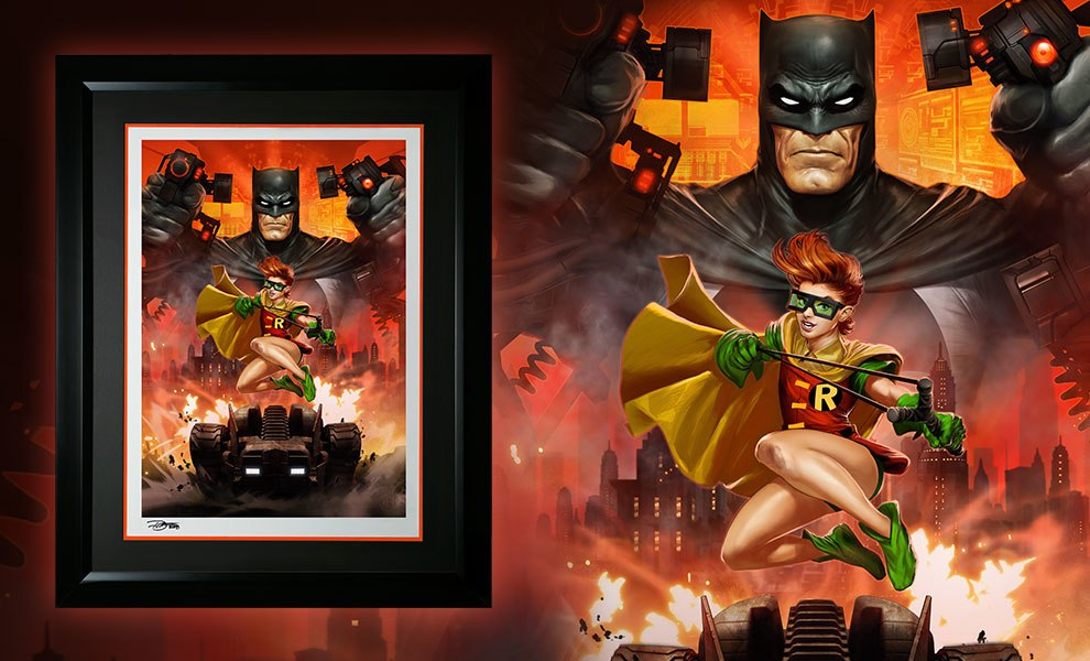 Gallery Feature Image of Batman The Dark Knight Returns Art Print - Click to open image gallery